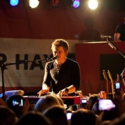 TRIO printed backdrop on tour with Hunter Hayes in Los Angeles