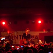 TRIO printed backdrop on tour with Hunter Hayes