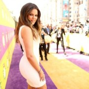 TRIO printed barricades and step & repeat with Khloe Kardashian at the Kid's Choice Awards 2013