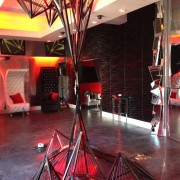 trio, printed graphics, printed carpet, stage, beck's, beer, sapphire, party, launch, event, beverly hills, furniture, 3d wall panels, los angeles, metal sculpture