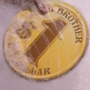 TRIO CNC-routed, printed graphics on 'Coin' prop - in play on 'Big Brother' Laundramat Challenge