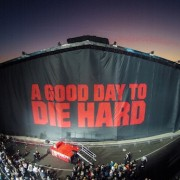 "TRIO printed 140' x 40' backdrop for Twentieth Century Fox ""Die Hard"" reveal"