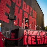 "TRIO printed 140' x 40' backdrop for Twentieth Century Fox ""Die Hard"" reveal"