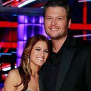 Cassadee Pope and Coach Blake Shelton