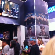 TRIO printed graphics in the Summit booth at Comic Con 2012