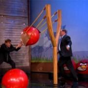 TRIO printed backdrop - 'Angry Birds' skit - Conan O'Brien