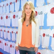 Christina Applegate in front of TRIO manufactured wall at LG event