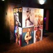 TRIO printed graphics on site at Belasco Theatre, Los Angeles