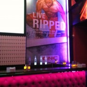 TRIO printed graphics in 'GNC Lounge' at ESPYs pre-party, Belasco Theatre, Los Angeles