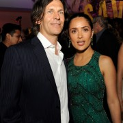 Salma Hayek and Adam Peters at Savages after-party