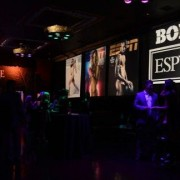 TRIO printed box art graphics, custom bar construction - ESPYs pre-party at Belasco Theatre, Los Angeles