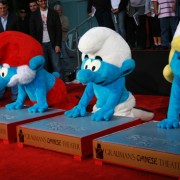 TRIO CNC routed imprint used for Smurf hand and footprint ceremony