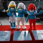 The Smurf's at Grauman's Chinese Theatre with TRIO CNC routed imprints