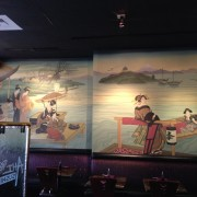 TRIO designed and hand-painted mural at Ahi Sushi in Studio City, CA