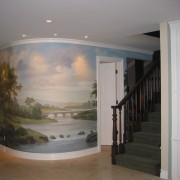 Hand-painted mural in private residence