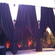 TRIO custom-sewn drapes in patio area, Belasco Theatre, Los Angeles