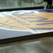 printing graphics for the los angeles lakers on TRIO's grande-format printer