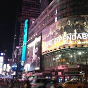 TRIO printed Expendables 2 in Times Square, New York City