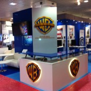 TRIO manufactured booth for Warner Bros MIP TV