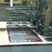 CNC Routing the stereo graphics for Justin Beiber's AMA performance