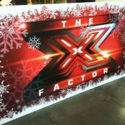 TRIO printed snowflake logos for X Factor