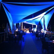 """TRIO manufactured """"booth"""" for Warner Bros. MIP COM - A beautiful night in Cannes"""