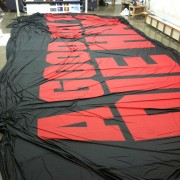 Printing the Die Hard reveal backdrop in the TRIO shop