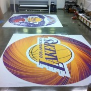 TRIO printed graphics for scoreboard at Staples Center, Los Angeles - LA Lakers