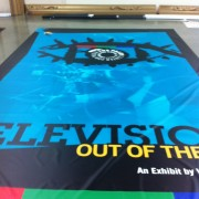 TRIO printed graphics for the Paley Center for Media, Los Angeles - Warner Bros 'Television Outside of the Box' installation