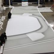 Big Bang's pre-show drop on the print studio floor at TRIO