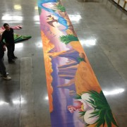Mall Interior Wall Mural