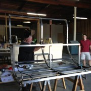 Metal work for Rickshaw happening in TRIO warehouse