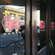 TRIO graphics outside of Club Ruby Skye in San Francisco with Riot Games