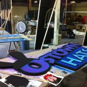 CNC routed signs for Disney E3 booth