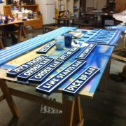 CNC routed signs for Disney's E3 booth