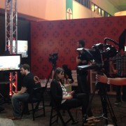 FIlm crew conducting interviews
