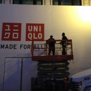 Installing TRIO printed construction barricade in San Francisco