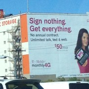 TRIO hand-painted T Mobile Advertisement in Los Angeles