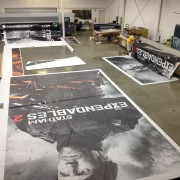 Printing the Expendables 2 billboards in TRIOs facilities
