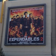 Expendables 2 campaign at LA Live, Los Angeles