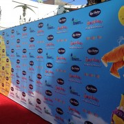 TRIO printed step & repeat for Oogieloves premiere in Los Angeles