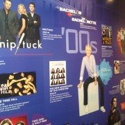 TRIO printed graphics at the Paley Center for Media, Los Angeles - for the Warner Bros 'Television Outside of the Box'