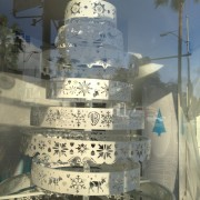TRIO CNC routed Christmas tree in the Paley holiday window display