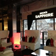 TRIO graphics in the VIP room at Beck's Sapphire launch event in New York