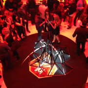 TRIO printed graphics and metal sculpture at Beck's Sapphire launch event