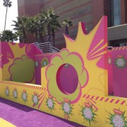 TRIO's printed graphic walls getting installed at the Kid's Choice Awards