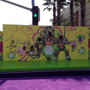 TRIO graphics walls getting installed for the Kid's Choice Awards