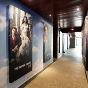 TRIO manufactured booth and graphics for Warner Bros. MIP COM in Cannes, France