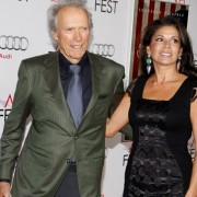 Clint Eastwood in front of TRIO printed step & repeat at the J Edgar premiere