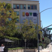 TRIO printed Jason Mraz scrim on The Pinnacle in Burbank